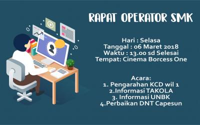 Rapat Operator SMK