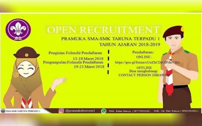 Recruitment Pramuka SMA SMK TARUNA TERPADU 1