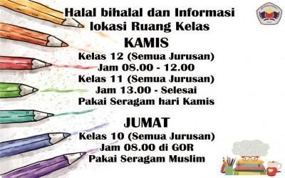 Halal bihalal dan Info Kelas