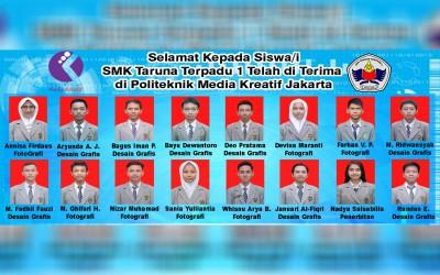 Selamat Telah Masuk Politeknik Media Kreatif Jakarta