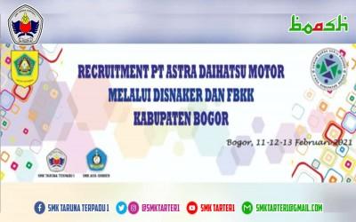 Recruitment PT Astra Daihatsu Motor