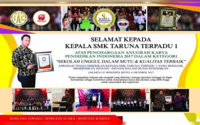 SMK Taruna Terpadu 1 Mendapatkan Penghargaan