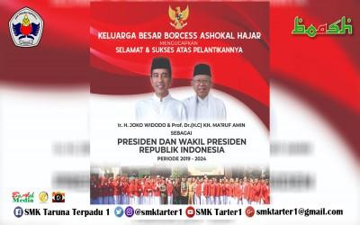 Selamat dan Sukses atas Pelantikan Presiden dan Wakil Presiden