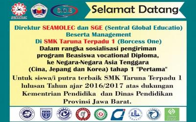 Kedatangan Direktur & Management dari SEAMOLEC & SGE