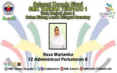 Juara 2 LKS Bilingual Secretary